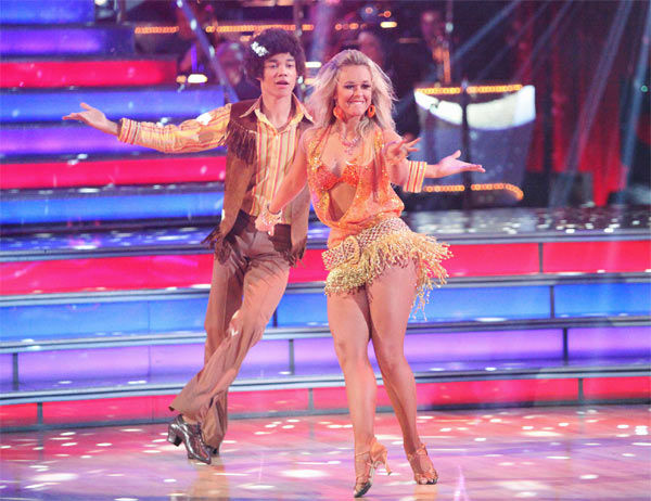 "<div class=""meta ""><span class=""caption-text "">Disney Channel star Roshon Fegan and his partner Chelsie Hightower received 25 out of 30 points from the judges for their Samba on week three of 'Dancing With The Stars,' which aired on April 2, 2012. (ABC/Adam Taylor)</span></div>"
