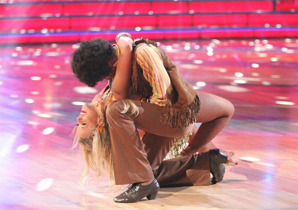 Disney Channel star Roshon Fegan and his partner Chelsie Hightower received 25 out of 30 points from the judges for their Samba on week three of &#39;Dancing With The Stars,&#39; which aired on April 2, 2012. <span class=meta>(ABC&#47;Adam Taylor)</span>