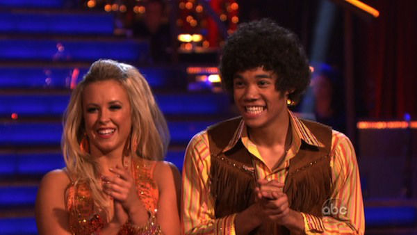 Disney Channel star Roshon Fegan and his partner Chelsie Hightower received 25 out of 30 points from the judges for their Samba on week three of &#39;Dancing With The Stars,&#39; which aired on April 2, 2012. <span class=meta>(ABC Photo)</span>