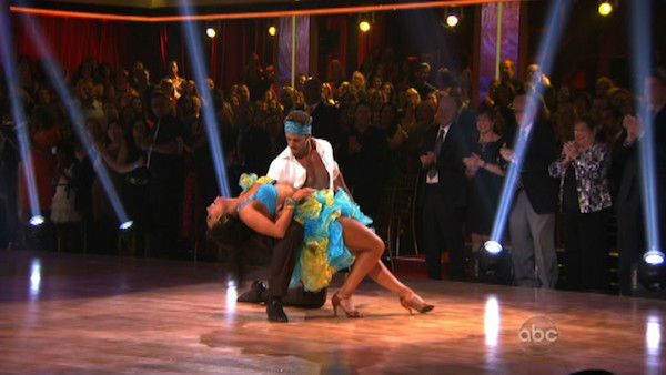 Telenovela star William Levy and his partner Cheryl Burke received 28 out of 30 points from the judges for their Salsa on week three of &#39;Dancing With The Stars,&#39; which aired on April 2, 2012. <span class=meta>(ABC Photo)</span>