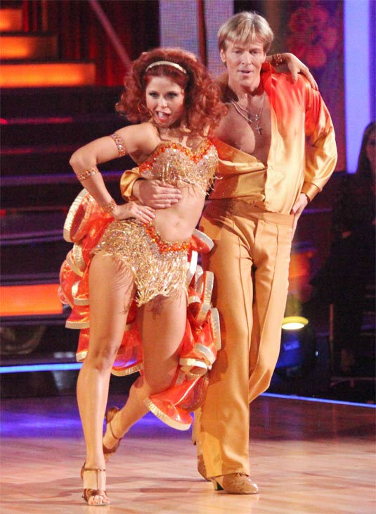 Jack Wagner, formerly of &#39;Melrose Place,&#39; and his partner Anna Trebunskaya received 24 out of 30 points from the judges for their Samba on week three of &#39;Dancing With The Stars,&#39; which aired on April 2, 2012. <span class=meta>(ABC&#47;Adam Taylor)</span>