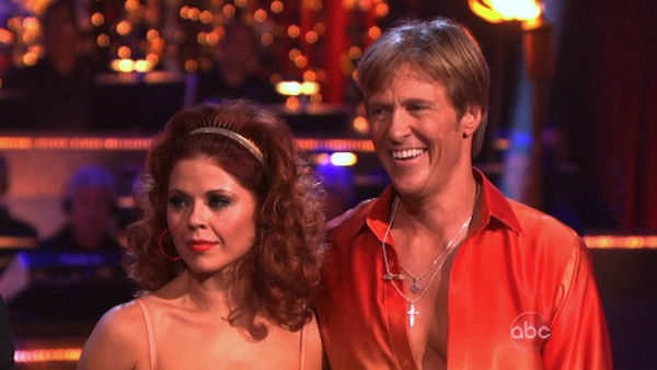 Jack Wagner, formerly of &#39;Melrose Place,&#39; and his partner Anna Trebunskaya received 24 out of 30 points from the judges for their Samba on week three of &#39;Dancing With The Stars,&#39; which aired on April 2, 2012. <span class=meta>(ABC Photo)</span>
