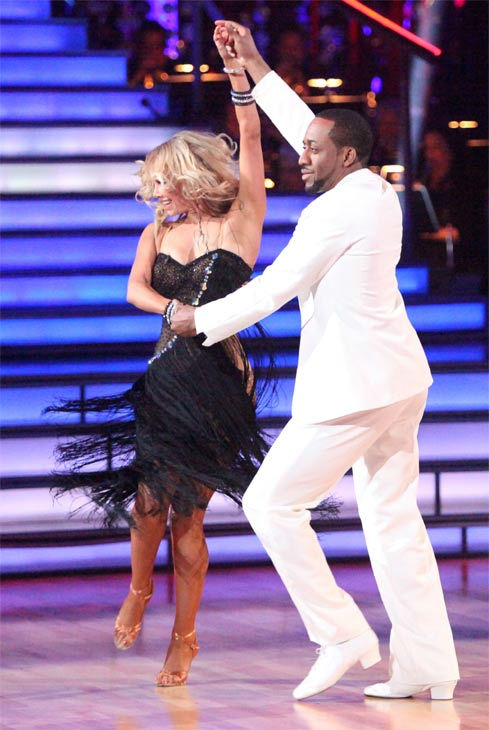 "<div class=""meta ""><span class=""caption-text "">Jaleel White, who played Steve Urkel on 'Family Matters,' and his partner Kym Johnson received 25 out of 30 points from the judges for their Rumba on week three of 'Dancing With The Stars,' which aired on April 2, 2012. (ABC/Adam Taylor)</span></div>"