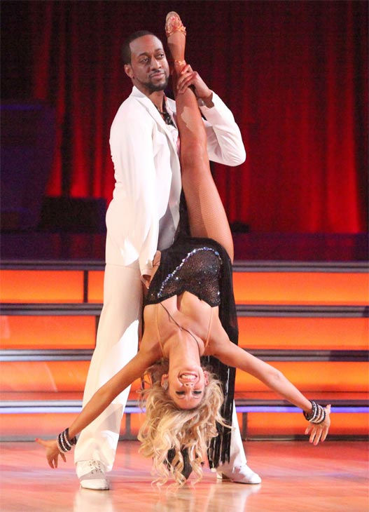 Jaleel White, who played Steve Urkel on &#39;Family Matters,&#39; and his partner Kym Johnson received 25 out of 30 points from the judges for their Rumba on week three of &#39;Dancing With The Stars,&#39; which aired on April 2, 2012. <span class=meta>(ABC&#47;Adam Taylor)</span>