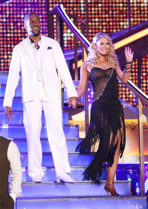 Jaleel White, who played Steve Urkel on 'Family Matters,' and his partner Kym Johnson received 25 out of 30 points from the judges for their Rumba on week three of 'Dancing With The Stars,' which aired on April 2, 2012.