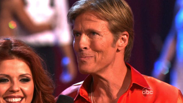 Jack Wagner, formerly of &#39;Melrose Place,&#39; and his partner Anna Trebunskaya react to being eliminated on &#39;Dancing With The Stars: The Result Show&#39; on Tuesday, April 3, 2012. The pair received 24 out of 30 points from the judges for their Samba on week three of &#39;Dancing With The Stars,&#39; which aired on April 2, 2012. <span class=meta>(ABC Photo)</span>