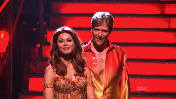 Jack Wagner, formerly of &#39;Melrose Place,&#39; and his partner Anna Trebunskaya await possible elimination on &#39;Dancing With The Stars: The Result Show&#39; on Tuesday, April 3, 2012. The pair received 24 out of 30 points from the judges for their Samba on week three of &#39;Dancing With The Stars,&#39; which aired on April 2, 2012. <span class=meta>(ABC Photo)</span>