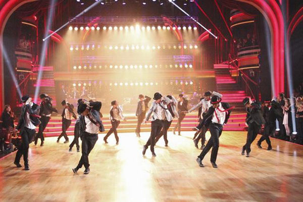 The season's first 'Macy's Stars of Dance' on 'Dancing With The Stars: The Results Show' on Tuesday, April 3, 2012, included an all-star dance number featuring some of Hollywood's high profile male dancers from film and TV.