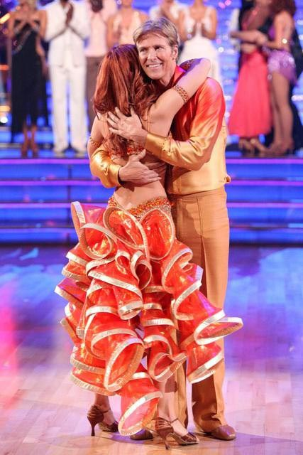 "<div class=""meta ""><span class=""caption-text "">Jack Wagner, formerly of 'Melrose Place,' and his partner Anna Trebunskaya react to being eliminated on 'Dancing With The Stars: The Result Show' on Tuesday, April 3, 2012. The pair received 24 out of 30 points from the judges for their Samba on week three of 'Dancing With The Stars,' which aired on April 2, 2012. (ABC Photo)</span></div>"