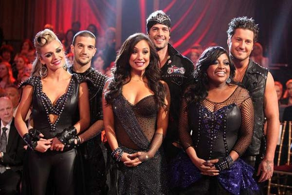 "<div class=""meta image-caption""><div class=""origin-logo origin-image ""><span></span></div><span class=""caption-text"">Katherine Jenkins, William Levy and Sherri Shepherd await elimination results on 'Dancing With The Stars: The Results Show' on Tuesday, April 10, 2012. (ABC Photo)</span></div>"