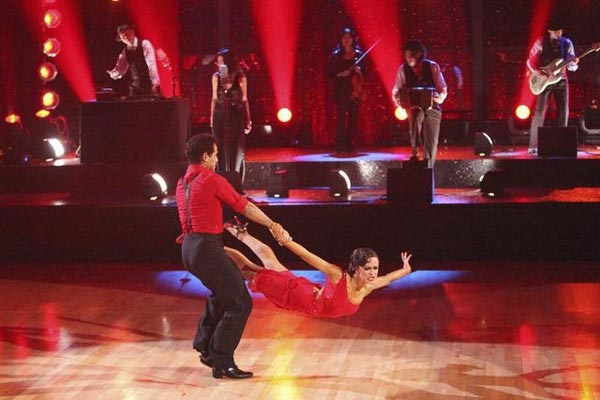 Karina Smirnoff and Jose Manuel Carreno, who was a principal dancer with the Royal Ballet and the American Ballet Theatre performed together on 'Dancing With The Stars: The Results Show' on Tuesday, April 10, 2012.