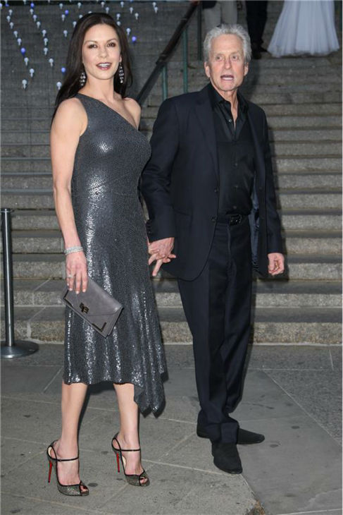 atherine Zeta-Jones and Michael Douglas attend the 10th annual Tribeca Film Festival Vanity Fair Party at the New York Supreme Court in New York on April 17, 2012. <span class=meta>(Kristina Bumphrey &#47; Startraksphoto.com)</span>