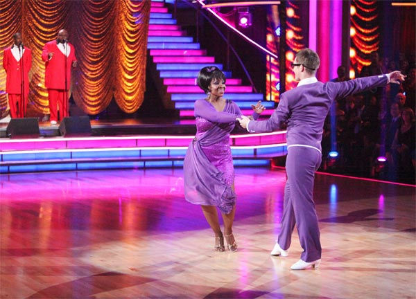 R&B legend Gladys Knight and her partner Tristan MacManus received 21 out of 30 points from the judges for their Rumba on week six of 'Dancing With The Stars,' which aired on Monday, April 23, 2012.