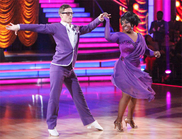 "<div class=""meta ""><span class=""caption-text "">R&B legend Gladys Knight and her partner Tristan MacManus received 21 out of 30 points from the judges for their Rumba to The Temptations' 'My Girl' on week six of 'Dancing With The Stars,' which aired on Monday, April 23, 2012. (ABC Photo/ Adam Taylor)</span></div>"