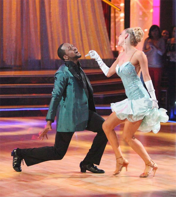 "<div class=""meta ""><span class=""caption-text "">Jaleel White, who played Steve Urkel on 'Family Matters,' and his partner Kym Johnson received 29 out of 30 points from the judges for their Cha Cha to The Temptations' 'Ain't Too Proud to Beg' on week six of 'Dancing With The Stars,' which aired on Monday, April 23, 2012. (ABC Photo/ Adam Taylor)</span></div>"