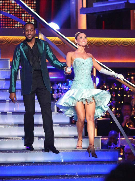 "<div class=""meta ""><span class=""caption-text "">Jaleel White, who played Steve Urkel on 'Family Matters,' and his partner Kym Johnson received 29 out of 30 points from the judges for their Cha Cha on week six of 'Dancing With The Stars,' which aired on Monday, April 23, 2012. (ABC Photo/ Adam Taylor)</span></div>"