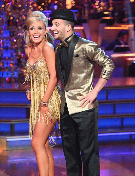 "<div class=""meta ""><span class=""caption-text "">Classical singer Katherine Jenkins and her partner Mark Ballas received 29 out of 30 points from the judges for their Samba to The Temptations' 'I Can't Get Next to You' on week six of 'Dancing With The Stars,' which aired on Monday, April 23, 2012. (ABC Photo/ Adam Taylor)</span></div>"