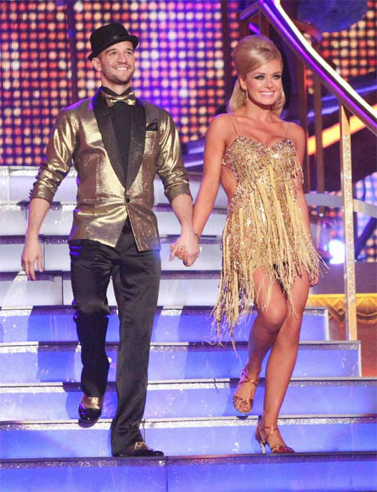 Classical singer Katherine Jenkins and her partner Mark Ballas received 29 out of 30 points from the judges for their Samba to The Temptations&#39; &#39;I Can&#39;t Get Next to You&#39; on week six of &#39;Dancing With The Stars,&#39; which aired on Monday, April 23, 2012. <span class=meta>(ABC Photo&#47; Adam Taylor)</span>