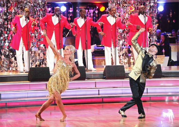 "<div class=""meta image-caption""><div class=""origin-logo origin-image ""><span></span></div><span class=""caption-text"">Classical singer Katherine Jenkins and her partner Mark Ballas received 29 out of 30 points from the judges for their Samba to The Temptations' 'I Can't Get Next to You' on week six of 'Dancing With The Stars,' which aired on Monday, April 23, 2012. (ABC Photo/ Adam Taylor)</span></div>"