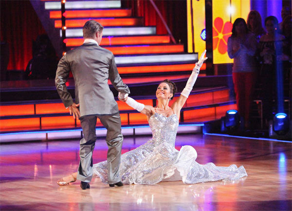 "<div class=""meta image-caption""><div class=""origin-logo origin-image ""><span></span></div><span class=""caption-text"">TV personality Maria Menounos and her partner Derek Hough received 26 out of 30 points from the judges for their Fox Trot to Martha Reeves' 'Jimmy Mack' on week six of 'Dancing With The Stars,' which aired on Monday, April 23, 2012. (ABC Photo/ Adam Taylor)</span></div>"
