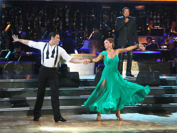 "<div class=""meta ""><span class=""caption-text "">Melissa Gilbert, a former child star who played Laura on 'Little House on the Prairie,' and her partner Maksim Chmerkovskiy received 24 out of 30 points from the judges for their Viennese Waltz to Smokey Robinson's 'Oooh Baby' on week six of 'Dancing With The Stars,' which aired on Monday, April 23, 2012. (ABC Photo/ Adam Taylor)</span></div>"