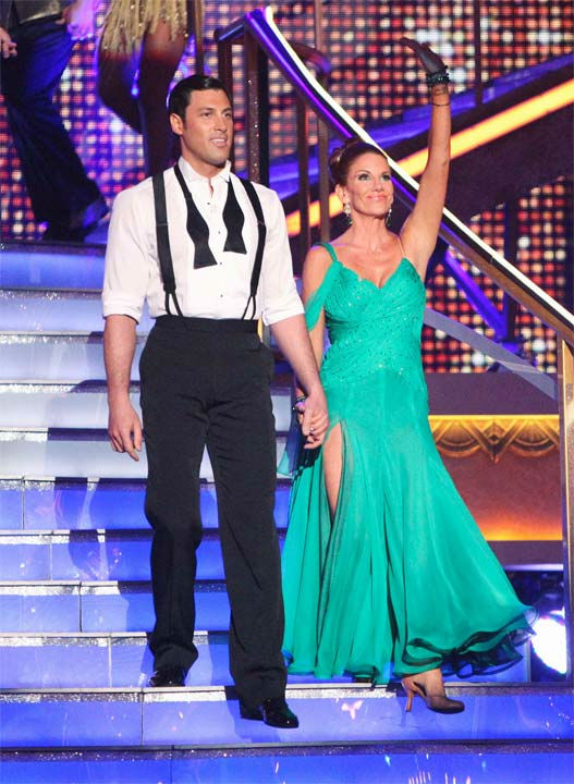 Melissa Gilbert and her partner Maksim Chmerkovskiy received 24 out of 30 points from the judges for their Viennese Waltz on week six of 'Dancing With The Stars,' which aired on Monday, April 23, 2012.