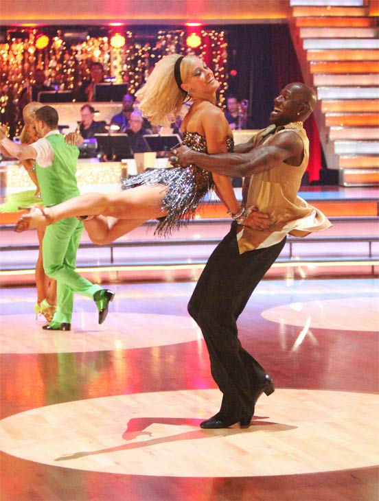 "<div class=""meta ""><span class=""caption-text "">The couples showed off their classic dance moves from the Motown era during a special Motown Dance Marathon on week 6 of 'Dancing with the Stars,' which aired on Monday, April 23, 2012. (Pictured: Football star Donald Driver and Peta Murgatroyd.) (ABC Photo/ Adam Taylor)</span></div>"