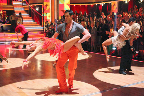 The couples showed off their classic dance moves from the Motown era during a special Motown Dance Marathon on week 6 of &#39;Dancing with the Stars,&#39; which aired on Monday, April 23, 2012. &#40;Pictured: Actress Melissa Gilbert and her partner Maksim Chmerkovskiy.&#41; <span class=meta>(ABC Photo&#47; Adam Taylor)</span>