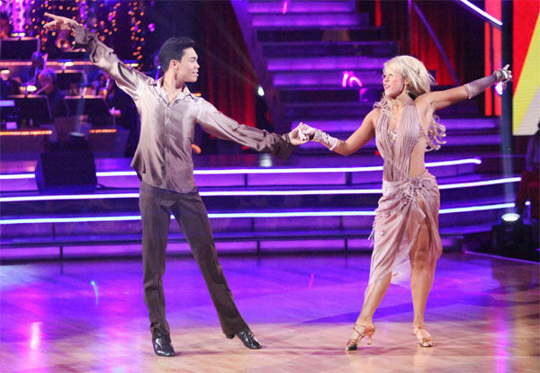 Disney Channel star Roshon Fegan and his partner Chelsie Hightower received 23 out of 30 points from the judges for their Rumba to Smokey Robinson&#39;s &#39;Cruisin&#39; on week six of &#39;Dancing With The Stars,&#39; which aired on Monday, April 23, 2012. <span class=meta>(ABC Photo&#47; Adam Taylor)</span>