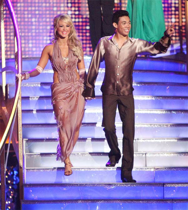Disney Channel star Roshon Fegan and his partner Chelsie Hightower received 23 out of 30 points from the judges for their Rumba on week six of 'Dancing With The Stars,' which aired on Monday, April 23, 2012.