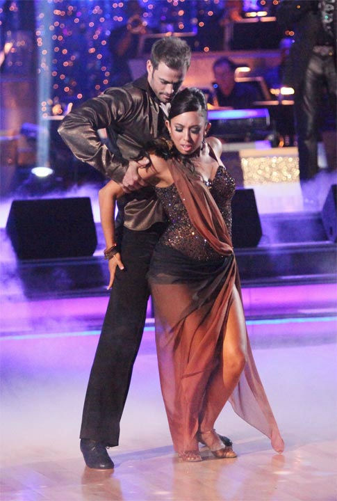 Telenovela star William Levy and his partner Cheryl Burke received 27 out of 30 points from the judges for their Rumba to Smokey Robinson&#39;s &#39;Being with You&#39; on week six of &#39;Dancing With The Stars,&#39; which aired on Monday, April 23, 2012. <span class=meta>(ABC Photo&#47; Adam Taylor)</span>