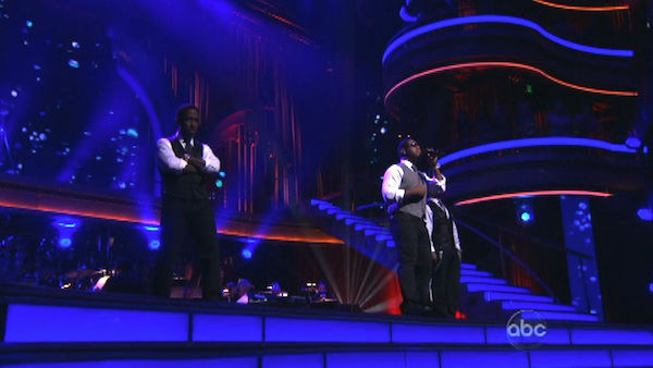 "<div class=""meta ""><span class=""caption-text "">Boyz II Men returned to the ballroom to perform of their latest single, 'One More Dance,' off their 20th anniversary album,' Twenty' on 'Dancing With The Stars: The Results Show' on Tuesday, April 24, 2012. Their performance was accompanied by Dmitry Chaplin and Anna Trebunskaya. (ABC Photo)</span></div>"