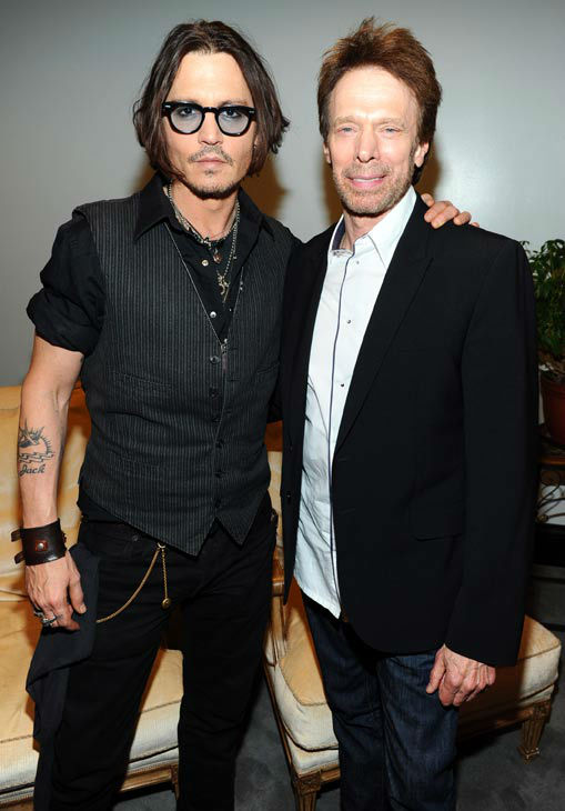 &#39;The Lone Ranger&#39; actor Johnny Depp and Producer Jerry Bruckheimer attends the Walt Disney Pictures 2012 Presentation Highlights at CinemaCon on April 24, 2012 in Las Vegas, Nevada. <span class=meta>(WireImage Photo &#47; Alberto E. Rodriguez)</span>