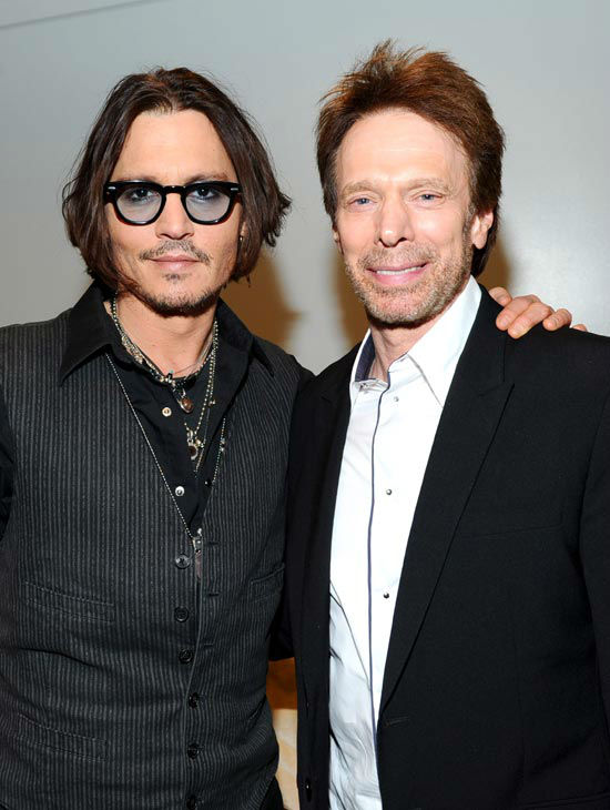 'The Lone Ranger' actor Johnny Depp and Producer Jerry Bruckheimer attends the Walt Disney Pictures 2012 Presentation Highlights at CinemaCon on April 24, 2012 in Las Vegas, Nevada.