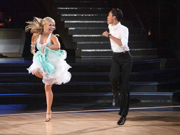 Disney Channel star Roshon Fegan and his partner Chelsie Hightower perform the Jive on the &#39;Dance Duel&#39; on &#39;Dancing With The Stars: The Results Show&#39; on Tuesday, April 24, 2012. <span class=meta>(ABC Photo&#47; Adam Taylor)</span>