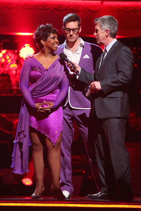 R&B legend Gladys Knight and her partner Tristan MacManus prepare to perform the Jive on the 'Dance Duel' on 'Dancing With The Stars: The Results Show' on Tuesday, April 24, 2012.