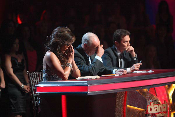 The Dance Duel continued, and this week the bottom two couples danced the Jive to the same song at the same time as the judges decided who the next eliminated couple would be, on &#39;Dancing with the Stars the Results Show.&#39; <span class=meta>(ABC Photo&#47; Adam Taylor)</span>
