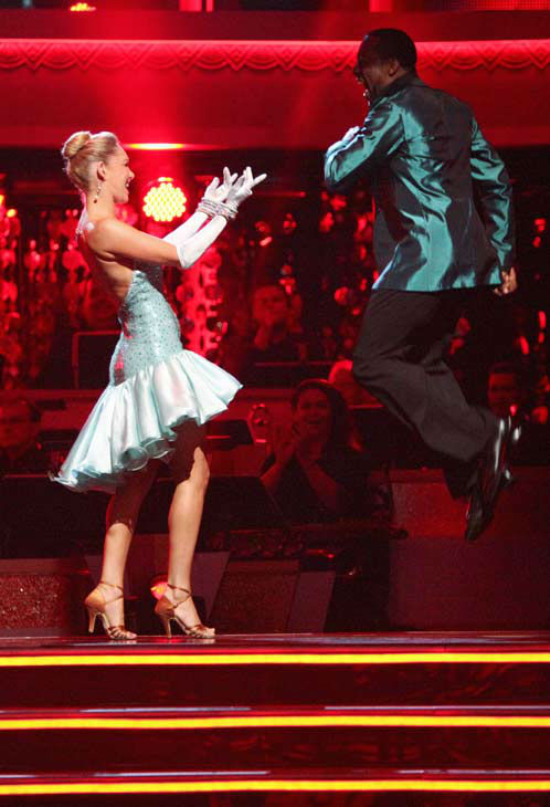 "<div class=""meta ""><span class=""caption-text "">Jaleel White, who played Steve Urkel on 'Family Matters,' and his partner Kym Johnson react to being safe from elimination on 'Dancing With The Stars: The Results Show' on Tuesday, April 24, 2012. The pair received 29 out of 30 points from the judges for their Cha Cha on week six of 'Dancing With The Stars,' which aired on April 23, 2012. (ABC Photo/ Adam Taylor)</span></div>"
