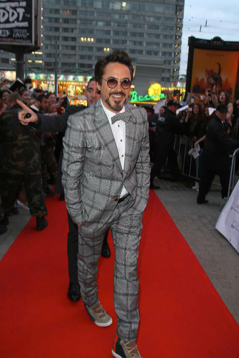 "<div class=""meta ""><span class=""caption-text "">Robert Downey Jr.  attends the Russian Premiere of 'Marvel's The Avengers' held at Oktyabr cinema on April 17, 2012 in Moscow, Russia. (Disney/Marvel Photo/Gennadi Avramenko)</span></div>"