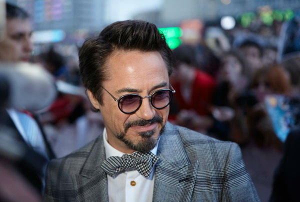 Robert Downey Jr.  attends the Russian Premiere of 'Marvel's The Avengers' held at Oktyabr cinema on April 17, 2012 in Moscow, Russia.