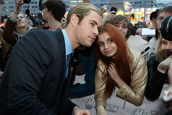 Chris Hemsworth attends the Russian Premiere of &#39;Marvel&#39;s The Avengers&#39; held at Oktyabr cinema on April 17, 2012 in Moscow, Russia. <span class=meta>(Disney&#47;Marvel Photo&#47;Oleg Nikishin)</span>