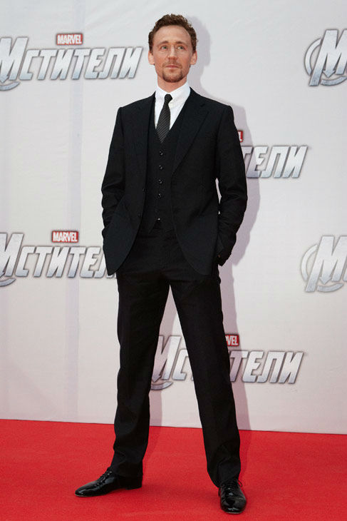 Tom Hiddleston attends the Russian Premiere of 'Marvel's The Avengers' held at Oktyabr cinema on April 17, 2012 in Moscow, Russia.