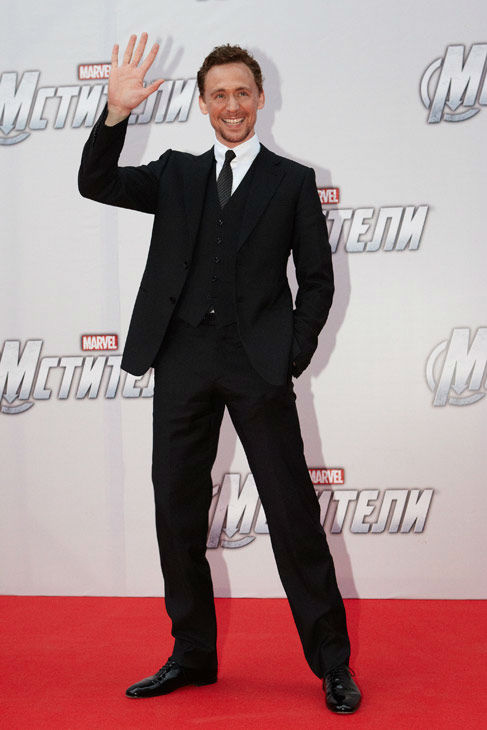 "<div class=""meta ""><span class=""caption-text "">Tom Hiddleston attends the Russian Premiere of 'Marvel's The Avengers' held at Oktyabr cinema on April 17, 2012 in Moscow, Russia.  (Disney/Marvel Photo/Oleg Nikishin)</span></div>"