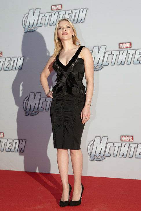 Scarlett Johansson attends the Russian Premiere...