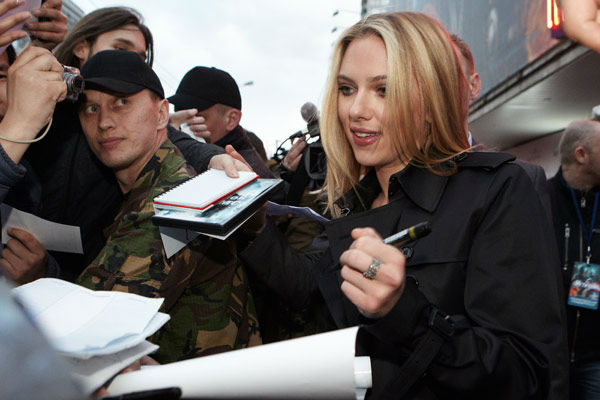 Scarlett Johansson attends the Russian Premiere of &#39;Marvel&#39;s The Avengers&#39; held at Oktyabr cinema on April 17, 2012 in Moscow, Russia.  <span class=meta>(Disney&#47;Marvel Photo &#47; Oleg Nikishin)</span>