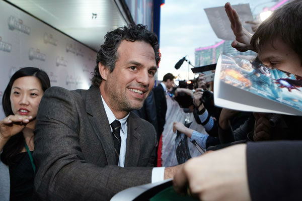 Mark Ruffalo attends the Russian Premiere of 'Marvel's The Avengers' held at Oktyabr cinema on April 17, 2012 in Moscow, Russia.