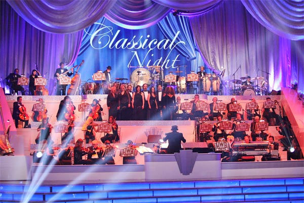 The house band performs on Classical Night...