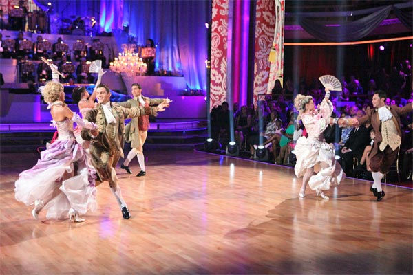 The dance troupe performs with Grammy Award-winning violinist Joshua Bell and the orchestra on week 7 of &#39;Dancing With The Stars,&#39; which aired on Monday, April 30, 2012. <span class=meta>(ABC Photo&#47; Adam Taylor)</span>