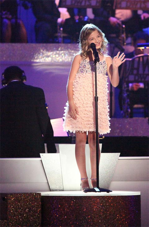"<div class=""meta ""><span class=""caption-text "">Soprano prodigy Jackie Evancho performed on 'Dancing With The Stars' on Monday, April 30, 2012. (ABC Photo/ Adam Taylor)</span></div>"