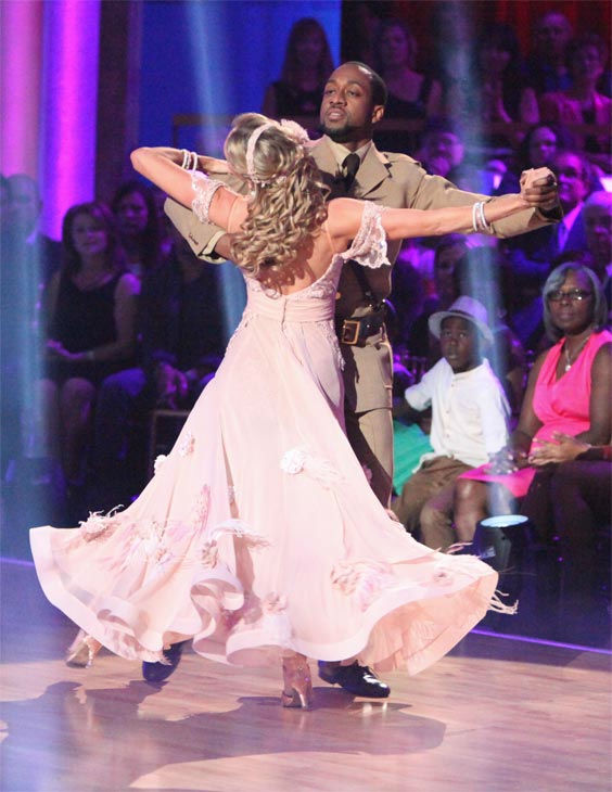 "<div class=""meta image-caption""><div class=""origin-logo origin-image ""><span></span></div><span class=""caption-text"">Jaleel White, who played Steve Urkel on 'Family Matters,' and his partner Kym Johnson received 24 out of 30 points from the judges for their Viennese Waltz on week 7 of 'Dancing With The Stars,' which aired on Monday, April 30, 2012. (ABC Photo/ Adam Taylor)</span></div>"
